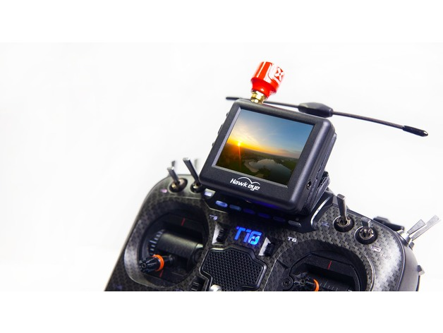 3d mount for radiomaster or jumpter hawkeye little pilot fpv monitor